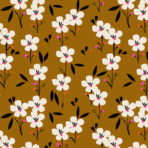 Soiree Spring brown - rayon