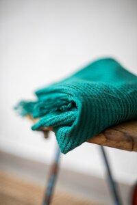Viscose waffle knit - dark jade