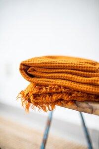 Viscose waffle knit - gold curry