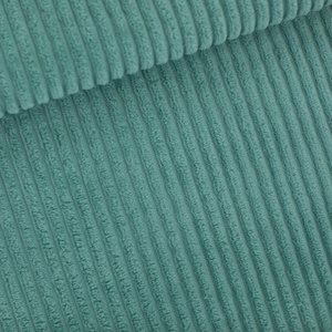 Corduroy brede rib - trellis blauw