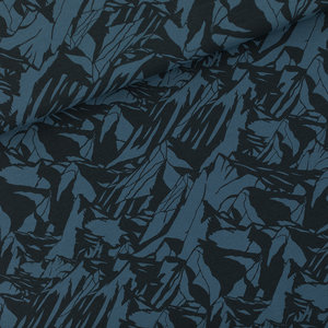 Mountains orion blauw - french terry