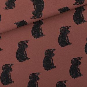 Hares zandbruin - french terry