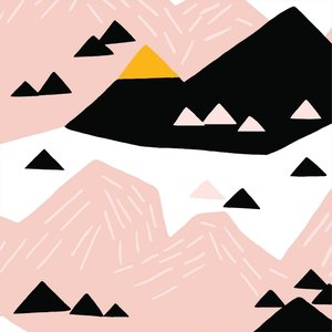 Pink Mountain - canvas