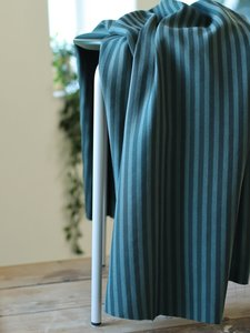 Two-tone stripe twill - deep green