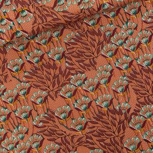 Gilly Flowers zonnebrandbruin - canvas