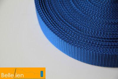 Tassenband kobaltblauw 25mm