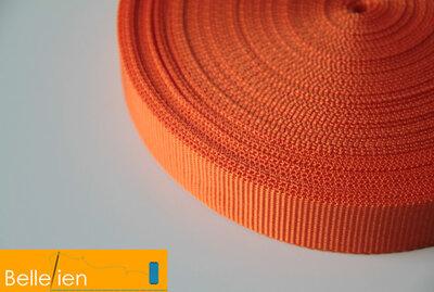 Tassenband oranje 25mm