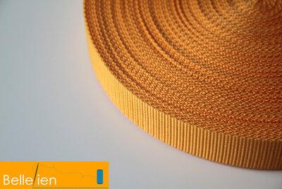 Tassenband geel 25mm