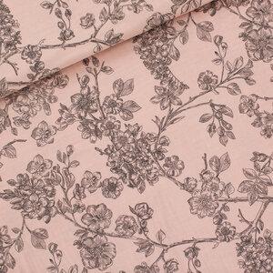 Cherry Blossom bleekroze - double gauze
