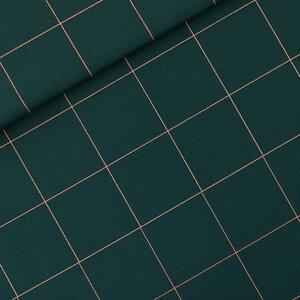 Thin Grid XL green gables - canvas