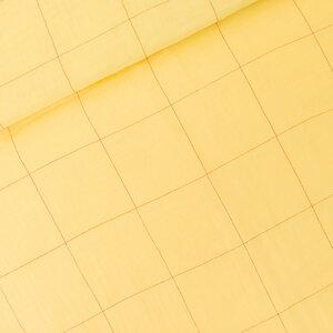 Thin Grid popcorn geel - double gauze