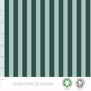 Vertical evergreen/dusty mint - tricot