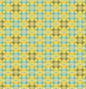 COUPON 155cm - Square Petals Citron