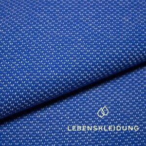 Organic sweat bicolored - ultramarine-ecru