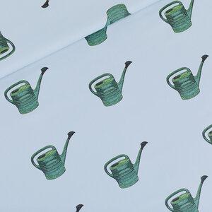 Watering Cans mistblauw - gabardine twill