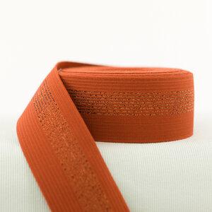 Elastische tailleband - roest met koperen lijnen