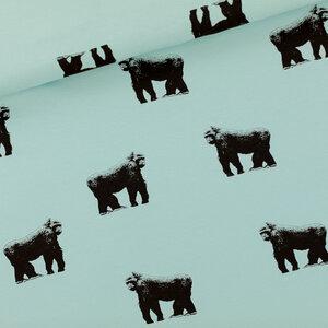 Gorillas grijs mistblauw - french terry