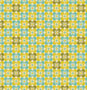 COUPON 155cm - Square Petals Citron